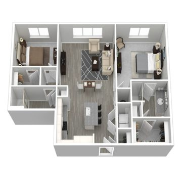 Rendering of the Cabana IV floor plan layout