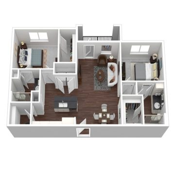 Rendering of the Cabana V floor plan layout