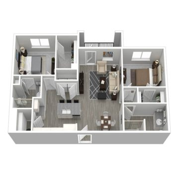 Rendering of the Cabana VI floor plan layout
