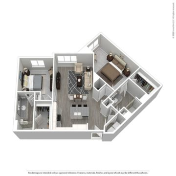 Rendering of the Cabana VII floor plan layout
