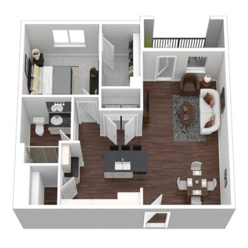 Rendering of the Sunset V floor plan layout